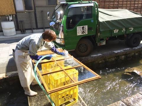 ガラス戸掃除2
