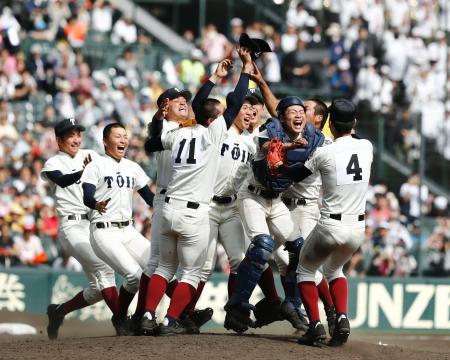 大阪桐蔭2018選抜高校野球大会優勝(中日新聞)