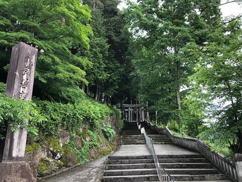 気多若宮神社6月階段