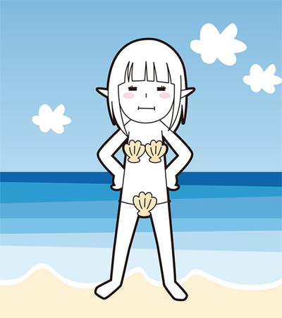 貝殻ビキニ完成