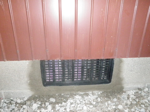 苅田町シロアリ駆除床下排気口設置