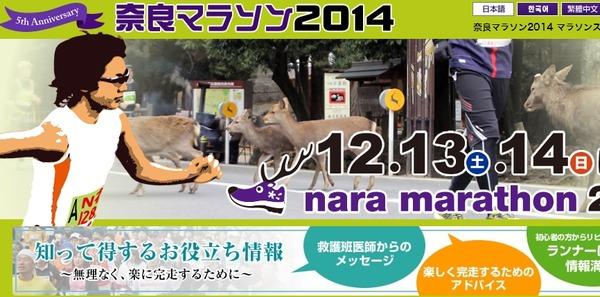 奈良マラソン 2014 着替え 変更 寒さ対策