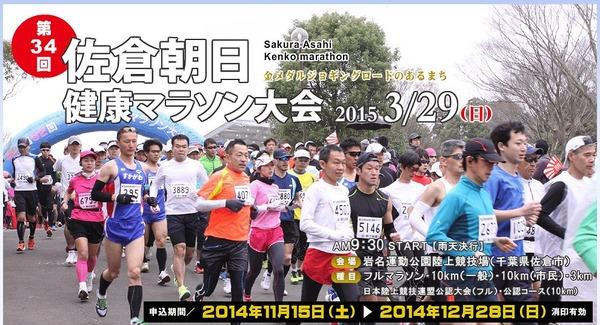 佐倉朝日健康マラソン2015