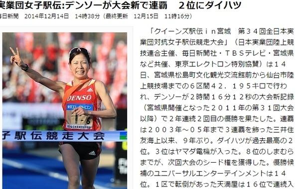 全日本実業団対抗女子駅伝競走大会 結果