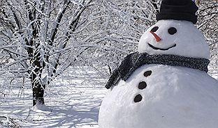 冬 ジョギング 雪