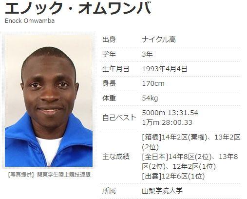 エノック・オムワンバ  陸上競技 陸上長距離