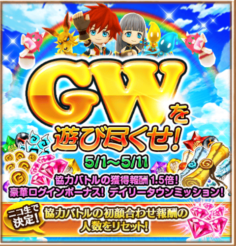 【白猫】GWキャンペーンでデイリータウンミッションが追加!宝箱と星たぬき狩りはどこが楽?【プロジェクト】