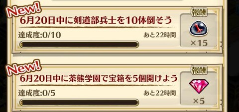 【白猫】6/20茶熊デイリータウンミッション情報!剣道部兵士と宝箱5個はどこがオススメ?【プロジェクト】