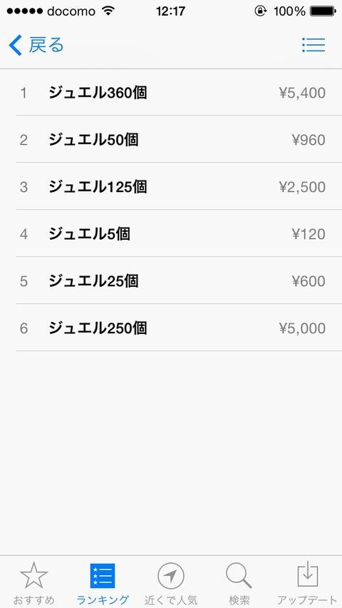 【白猫】iOS版ジュエルが360個だけ5400円に値下げ!今後もこのままだったら良対応だな【プロジェクト】
