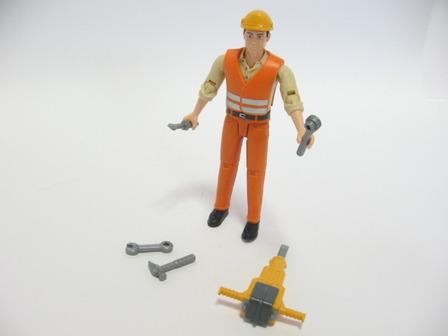 漢品005  (4)bruder 建築作業員
