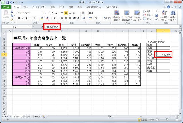 Excelで範囲に付けた名前を数式でも利用する【知っ得!虎の巻】