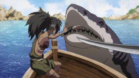 アニメ - 【どろろ】第16話 感想 サメの引く舟に乗って…