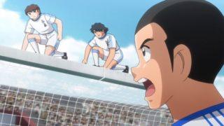 アニメ - キャプテン翼 第38話 感想:試合用のネット張替えでゴールに登る人いたけど今もいるのかな!
