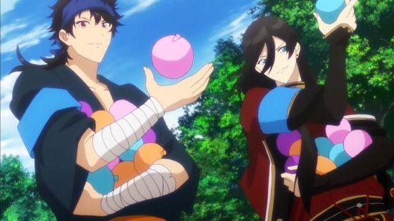 アニメ - 続 刀剣乱舞-花丸- 第9話 感想:熱いからってノリノリで水遊び!戦術の訓練にはなってそう!