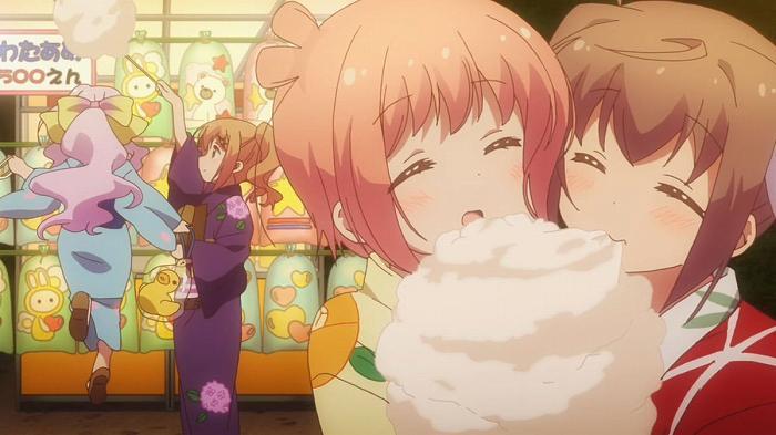アニメ - 【スロウスタート】 第11話 キャプ感想 浴衣で夏祭り~♪ 可愛い女の子しかいないお祭りww
