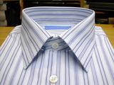 オーダーシャツ/ブルー縞01