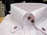 ピンクのボタンダウンシャツ605-8817_01