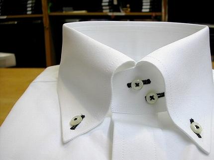クラシコボタンダウンシャツ白