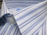 オーダーシャツ/ブルー縞02