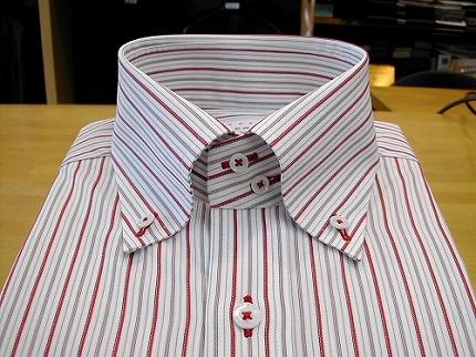 2009夏シャツフェア01赤いストライプのシャツ03