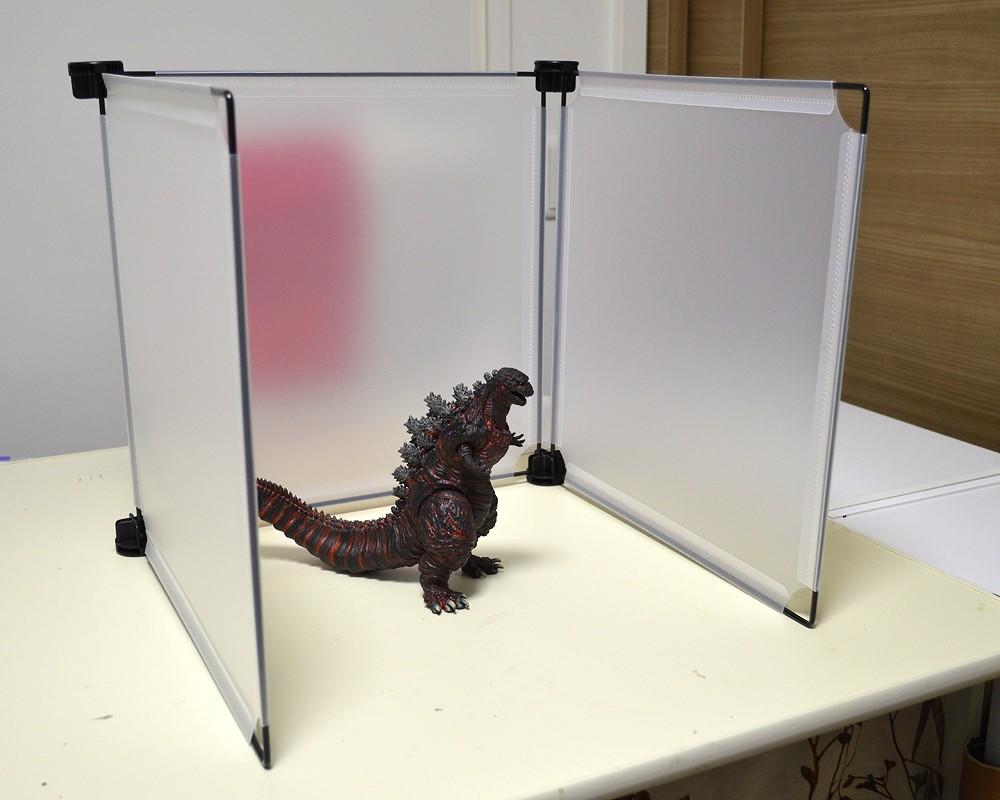 静岡出身のメカ担当      100均の半透明パーテーションを撮影に使ってみる