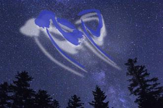 見上げる星空