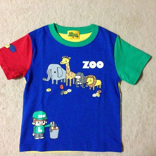 Laundry ブロックZooキッズTシャツ