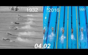 人類はここまで速くなった。オリンピック・水泳競技の「2016年」と「1932年」の泳ぎを比べた動画が話題に