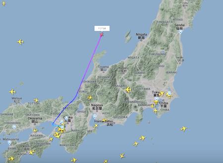 カルロスゴーンを乗せた逃亡機か。関空からトルコへ向かう怪しいビジネスジェットのFlightradar24