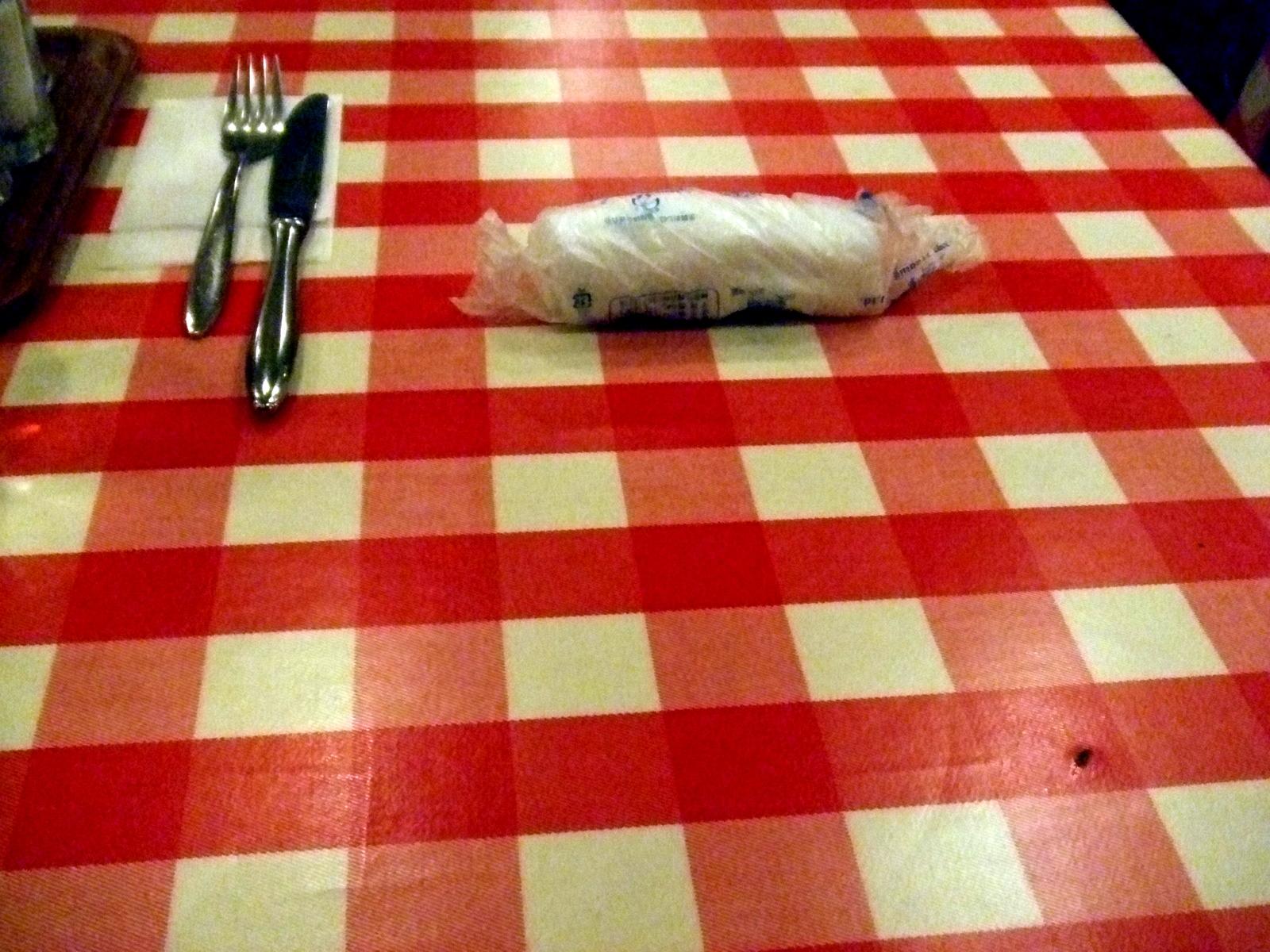 チェックなテーブル