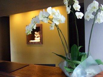 フロントにお花