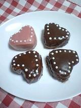 ハートチョコレートケーキ