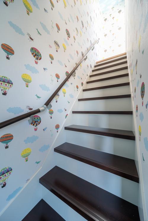 3階ホールからの出入口とは別に、秘密の階段室が