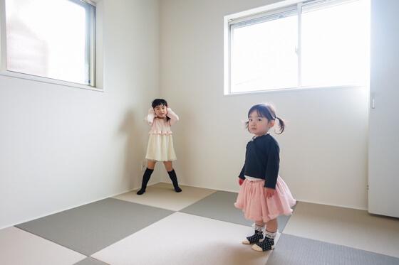 リビングと続き間の和室は4.5帖。