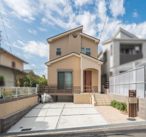外観 調和のとれた注文住宅のデザインと配色。