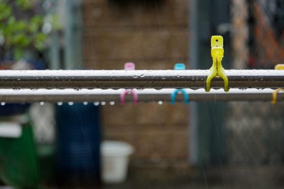 雨のときには洗濯物が乾きません