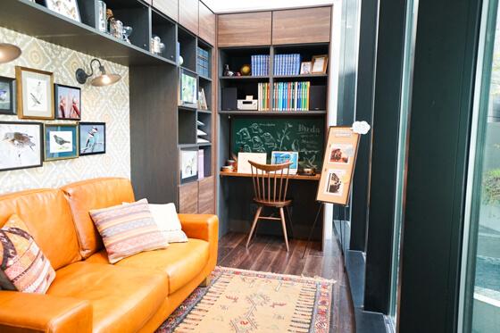 パナソニックのショールームの書斎のレイアウト 約3帖の空間でこんなことができちゃいます