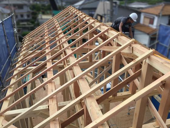 垂木の施工が終わりました