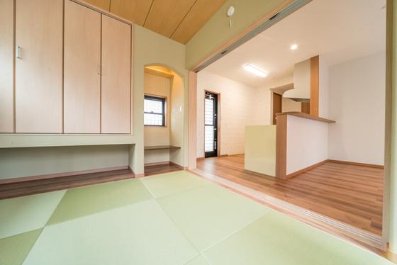 キッチンの和室の絶妙な位置関係