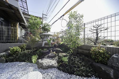 注文住宅の日本庭園