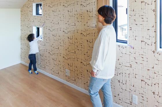こちらは2室続きの子供室 扉で2室に区切ることができます