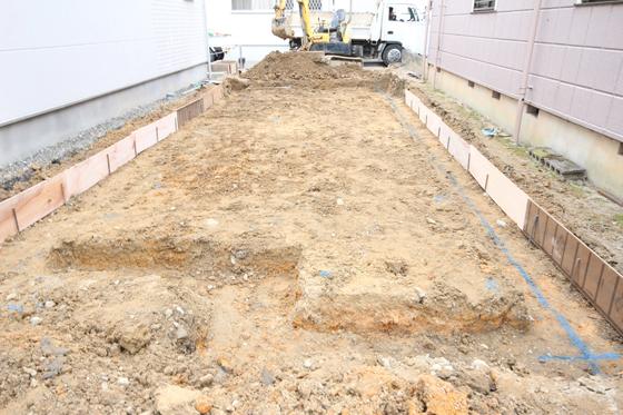 掘り方という作業から基礎工事は始まります