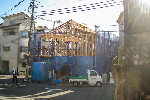 屋根の形が現れました