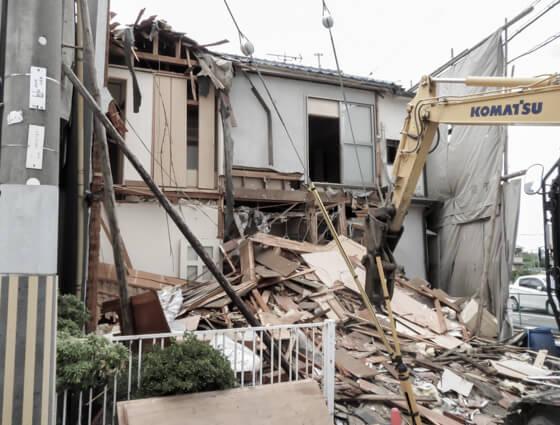 旧家解体 古い家を壊して注文住宅に建て替えられます。