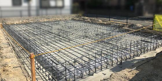 適切な配筋間隔の基礎工事