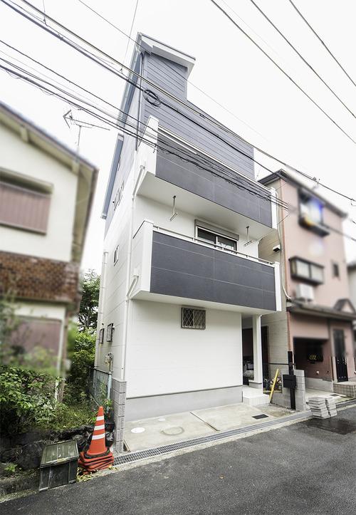 京都で3階建ての住宅 外観スタイル