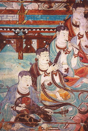 Traditional_Chinese_instrument_players_-_Yulin_Cave_25