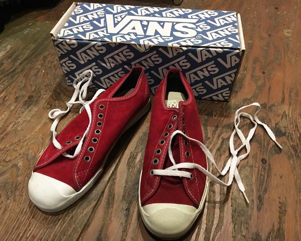 USA製VANS 90年代初期 デッドストック VAN DOREN レッドスウェード