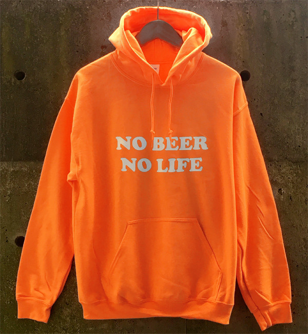 No Beer No Life Hoodie Orange 入荷