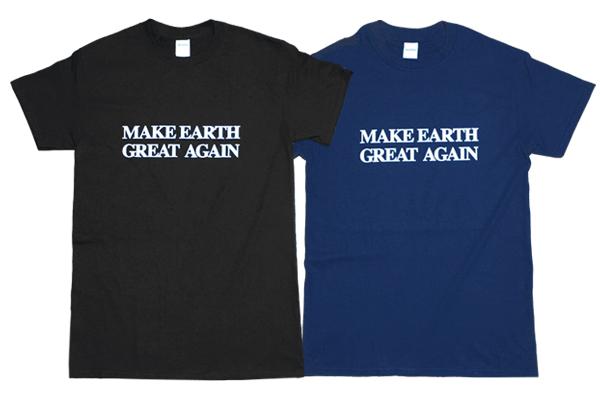 大統領のスローガンを皮肉ったTシャツ